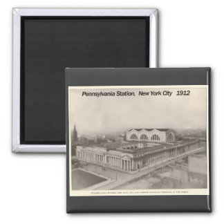 Estación Nueva York 1912 de Pennsylvania Imán Cuadrado