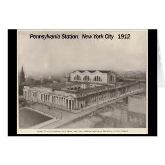 Estación Nueva York 1912 de Pennsylvania Tarjeta
