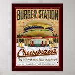 Estación-Poster de la hamburguesa
