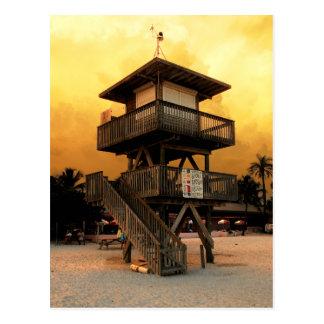 Estación pública del salvavidas de la playa del Ma Tarjetas Postales