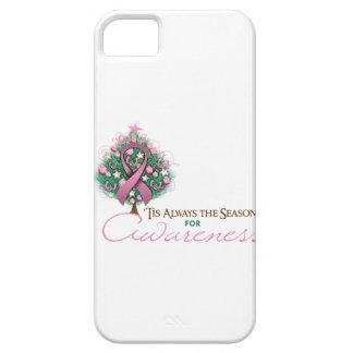 Estación rosada de la conciencia de Navidad de la iPhone 5 Case-Mate Protector