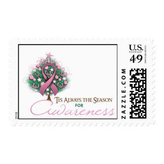 Estación rosada de la conciencia de Navidad de la Sello