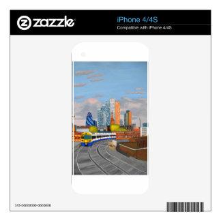 Estación terrestre de Hoxton del tren de Londres Skins Para eliPhone 4