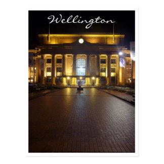 estación Wellington de la noche Tarjetas Postales