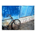 Estacionamiento de la bici tarjeta postal