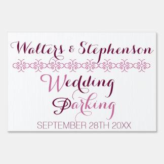 Estacionamiento del boda letreros