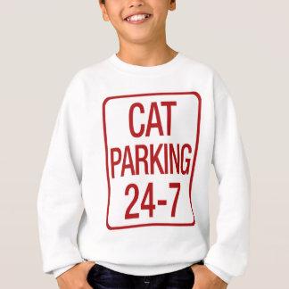 Estacionamiento del gato sudadera