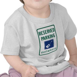 Estacionamiento del guitarrista camisetas