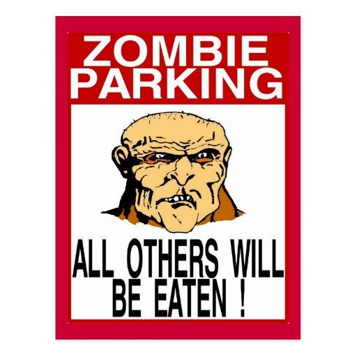 Estacionamiento del zombi tarjeta postal