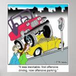 Estacionamiento ofensivo impresiones