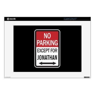 Estacionamiento prohibido a excepción de calcomanías para 38,1cm portátiles