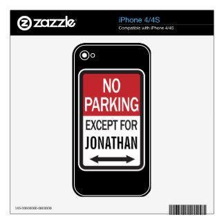Estacionamiento prohibido a excepción de skins para iPhone 4S