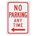 Estacionamiento prohibido (dejado) felicitacion