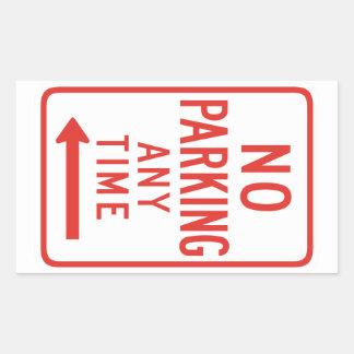 Estacionamiento prohibido (dejado) rectangular pegatinas