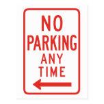 Estacionamiento prohibido (dejado) tarjetas postales