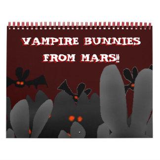 ¡Estaciones con los conejitos del vampiro de Marte Calendarios