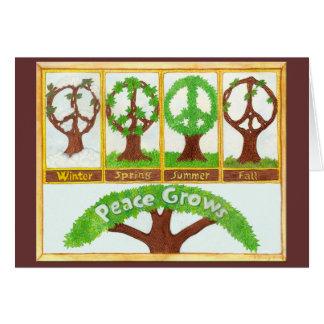 Estaciones de la tarjeta de nota de la paz