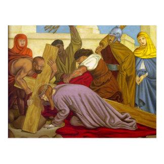 Estaciones de las caídas de Jesús de la cruz 9 la  Postales