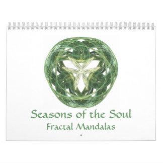 Estaciones del alma, mandalas del fractal calendarios