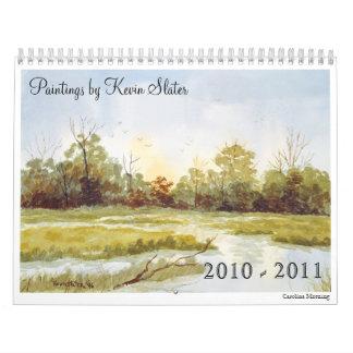 Estaciones en acuarela calendarios