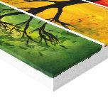 Estaciones - impresión de la bella arte del lavado lienzo envuelto para galerias