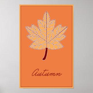 Estaciones: Poster del otoño