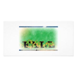 Estaciones y celebración tarjeta con foto personalizada