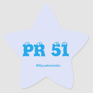 Estadidad para Puerto Rico Star Sticker