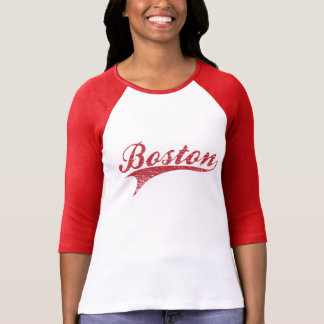 Estadio de béisbol apenado vintage de Boston Camiseta