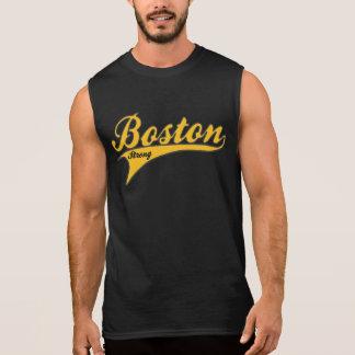 Estadio de béisbol FUERTE de BOSTON (oro) Camisetas Sin Mangas