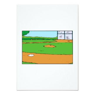 """Estadio de béisbol invitación 5"""" x 7"""""""