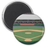Estadio de béisbol: modelo 3D: Imán Redondo 5 Cm