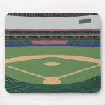 Estadio de béisbol: modelo 3D: Alfombrilla De Ratón