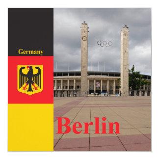 """Estadio de Berlín en Alemania Invitación 5.25"""" X 5.25"""""""
