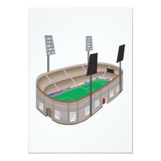 """Estadio de fútbol invitación 5"""" x 7"""""""
