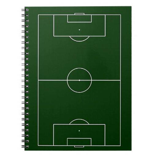 estadio de fútbol verde libros de apuntes