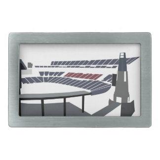 Estadio de Gillette Hebilla De Cinturon Rectangular