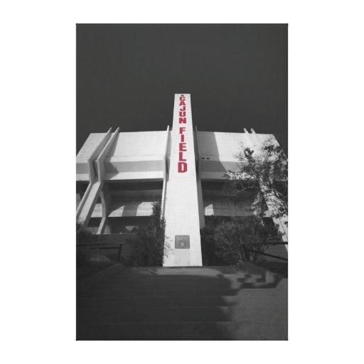 Estadio del campo de ULL Cajun Lona Envuelta Para Galerías