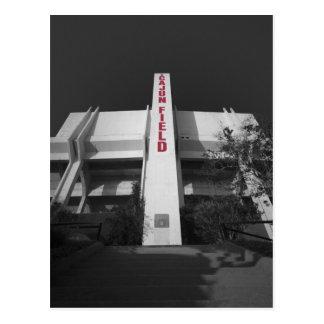 Estadio del campo de ULL Cajun Tarjeta Postal