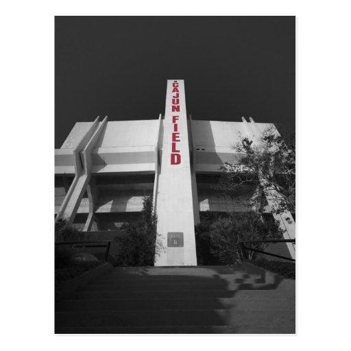 Estadio del campo de ULL Cajun Tarjetas Postales