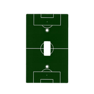 estadio verde de los juegos de fútbol tapa para interruptor