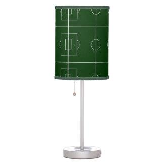 estadio verde del juego de fútbol lámpara de mesilla de noche