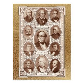 Estadistas y oradores americanos postales