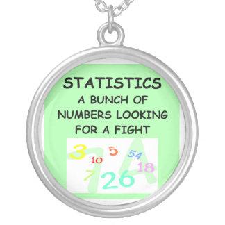 estadísticas colgante redondo