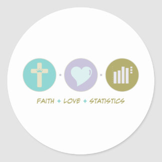 Estadísticas del amor de la fe pegatina redonda