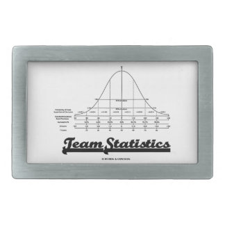 Estadísticas del equipo (Stats de distribución nor Hebillas De Cinturón Rectangulares