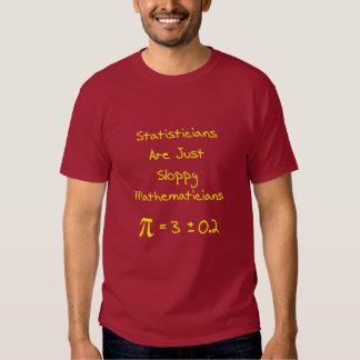 Estadísticas descuidadas camisas