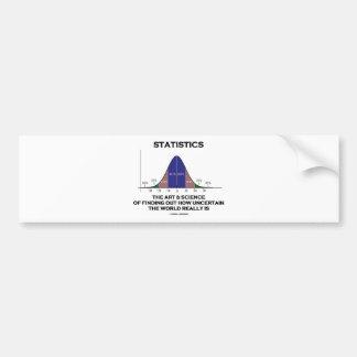 Estadísticas el arte y la ciencia de descubrir cit etiqueta de parachoque