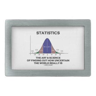 Estadísticas el arte y la ciencia de encontrar inc hebilla cinturón rectangular