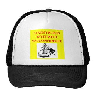 estadísticas gorros bordados